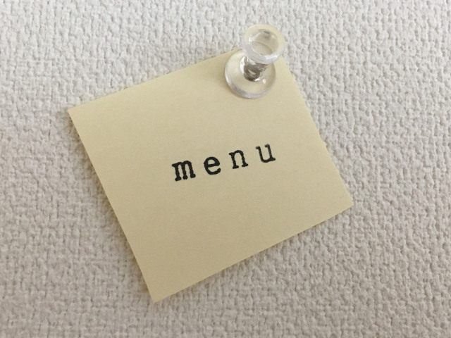 レストランなどの飲食店で売れる商品メニューの構成